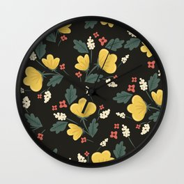 Marguerite Floral Print Wall Clock