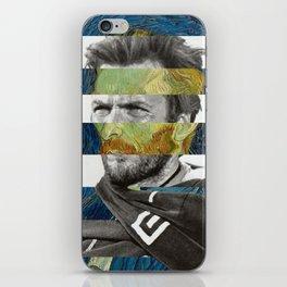 Van Gogh's Self Portrait & Clint Eastwood iPhone Skin