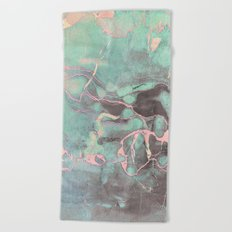 Delicate Shadow Marble Beach Towel