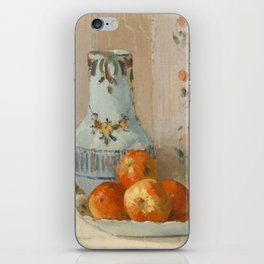 Camille Pissarro - Still Life with Apples and Pitcher (1872) iPhone Skin