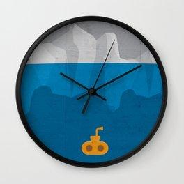 Yellow Submarine Wall Clock
