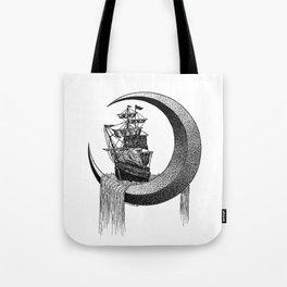 Sailing on the moon Tote Bag