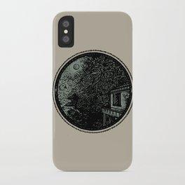 Miniature Circle Landscape 1: Morning Vision iPhone Case