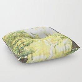 Forest Woods Vermont Landscape Floor Pillow