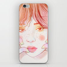 Colorful face iPhone Skin
