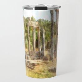 Fallen Ruins of Euromos Watercolor Travel Mug