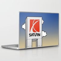 saturn Laptop & iPad Skins featuring Saturn by Josh LaFayette