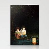 spirited away Stationery Cards featuring Spirited Away by Jessica P.