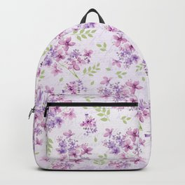 Little Purple and Pink Flowers Backpack