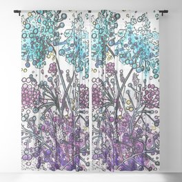 Purple floral watercolor abstraction Sheer Curtain