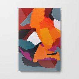 Jigsaw Abstract Art Metal Print