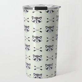 Raccoons and Arrows Travel Mug