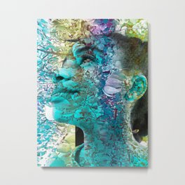 """Fall Faces: Camille"" Metal Print"