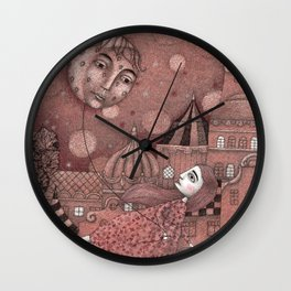 Strawberry Moon in June Wall Clock