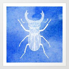 ekoxe full blå vit Art Print