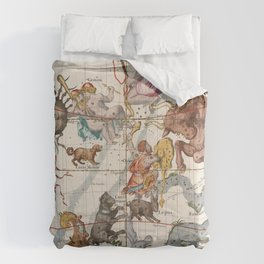 Vintage Constellation Map - Star Atlas Comforters