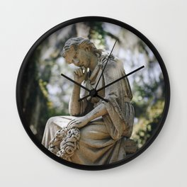 Bonaventure Cemetery - Statue of Eliza Wilhelmina Theus Wall Clock