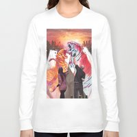 tigers Long Sleeve T-shirts featuring DUELING TIGERS by ArtBattles