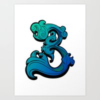 Typograthree Light Art Print
