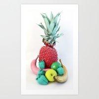 fruits Art Prints featuring Fruits by Luna Portnoi