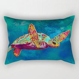 Flight of the Turtle Rectangular Pillow
