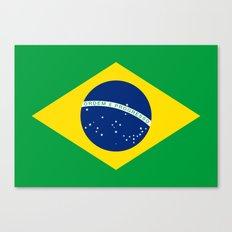 Brazilian National flag Authentic version (color & scale) Canvas Print