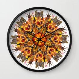 horrible insects mandala Wall Clock