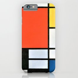 Composition With Red, Yellow, Blue, And Black - Piet Mondrian iPhone Case