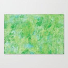 Watercolor abstract green color no.21 Canvas Print