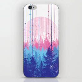 rainy forest 2 iPhone Skin