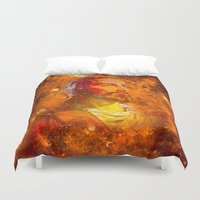 jesus Duvet Covers featuring Jesus by Saundra Myles