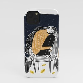 A PEACEFUL NIGHT, A Beautiful Girl With Long Hair Sleeping At Home iPhone Case