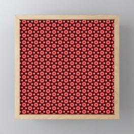 Red Arabesque Framed Mini Art Print