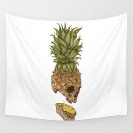 Pineapple Skull Wall Tapestry