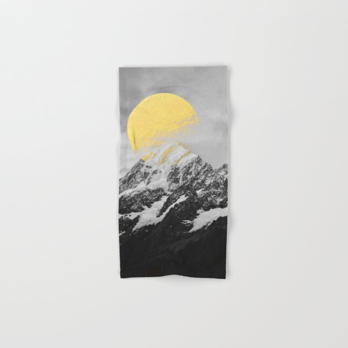 Moon dust mountains Hand & Bath Towel