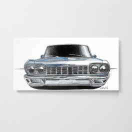 Car Sketch Metal Print