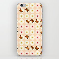 Daisies and butterflies iPhone & iPod Skin