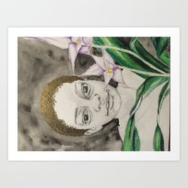 behind the asian orchids Art Print
