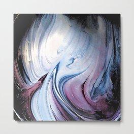 Tint Blot - Blue Stalagmites Metal Print