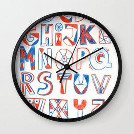 PlayFull Alphabet Wall Clock