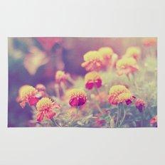 Retro Vintage style - flowers Rug