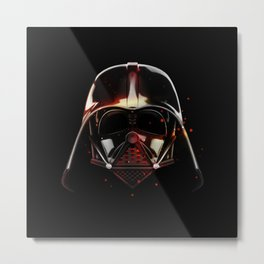 Darth Vader Shadow Metal Print