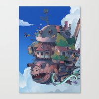 ghibli Canvas Prints featuring studio ghibli by KEL H