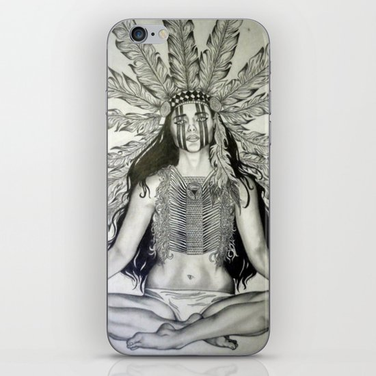 Indian War chief  iPhone & iPod Skin