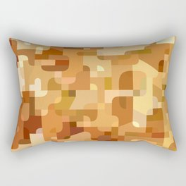 Modern terrazzo style orange camouflage pattern Rectangular Pillow
