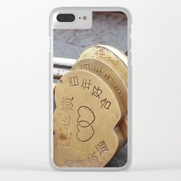 Thrown Away Clear iPhone Case