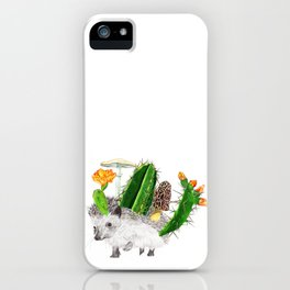 Hedgehog with Cacti iPhone Case