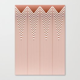 Art Deco Geometric Arrowhead Dusty Peach Design Canvas Print