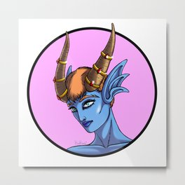 Demon Portrait Series - 002 Metal Print