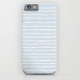 Grey and White Winter Stripes iPhone Case